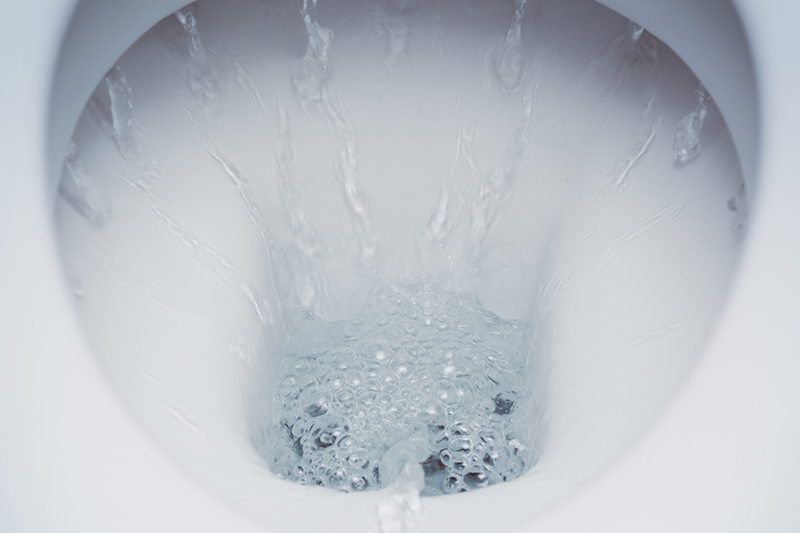 Watering running irregularly in a toilet